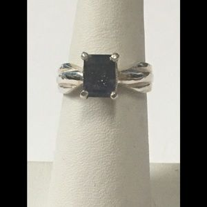 Sterling a Silver and Iolite Ring